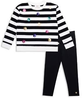 Kate Spade Girls' Sequin Dot Striped Sweatshirt & Leggings Set - Little Kid