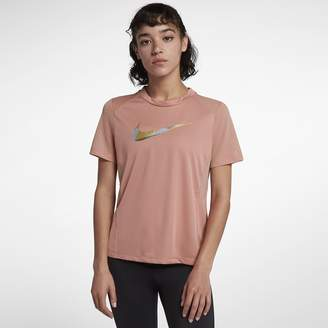 Nike Miler Women's Short-Sleeve Metallic Running Top