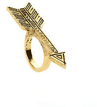 House Of Harlow Antiqued Arrow Ring Gold