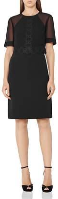 REISS Shauna Lace-Detail Dress $320 thestylecure.com