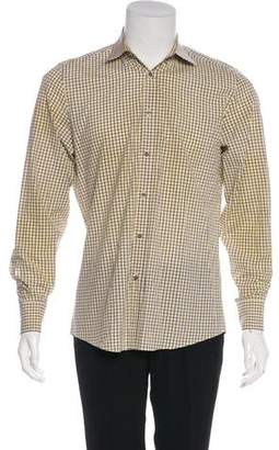 Gucci Plaid Button-Up Shirt