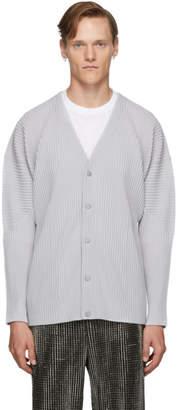 Issey Miyake Homme Plisse Grey Basics Cardigan
