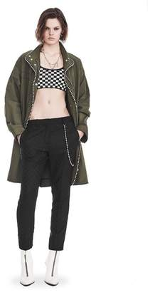 Alexander Wang OVERSIZED PARKA WITH BALLCHAIN TRIM JACKETS AND OUTERWEAR