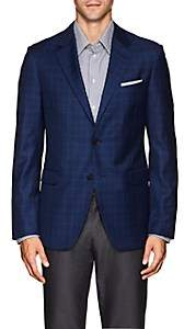 Barneys New York MEN'S PLAID WOOL-SILK TWO-BUTTON SPORTCOAT
