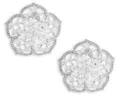 Adriana Orsini Crystal Flower Stud Earrings