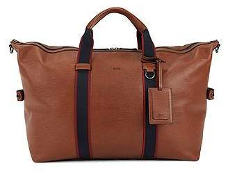 HUGO BOSS Zip-up holdall in embossed Italian calf leather
