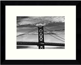 Amanti Art Benjamin Franklin Bridge Framed Wall Art