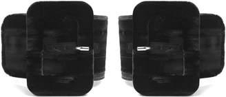 ATTICO Oversized-buckle velvet ankle straps