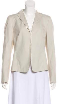 Akris Punto Pin-Stripe Notched-Lapel Blazer