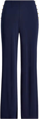 Ralph Lauren Stretch Jersey Wide-Leg Pant