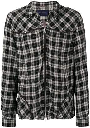 John Undercover plaid shirt jacket