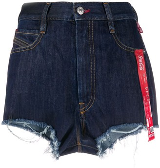Diesel Coca-Cola-ribbon denim shorts