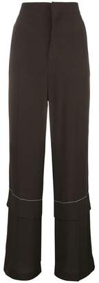 Marni flared long trousers