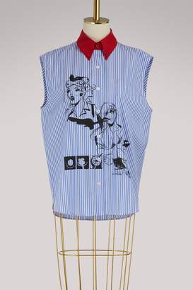Prada Striped sleeveless shirt