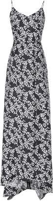 Zac Posen Printed Twill Tea Length Silk Gown