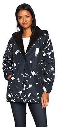 Obey Junior's Kendall Sherpa Hooded Coaches Jacket