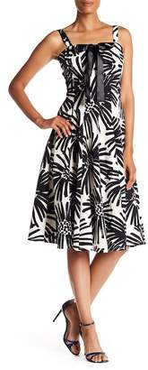 Taylor Printed Bow Fit & Flare Dress