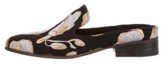 Esquivel x Jonathan Cohen Jacquard Pointed-Toe Mules w/ Tags