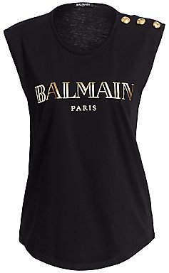 Balmain Women's Logo Tank Top