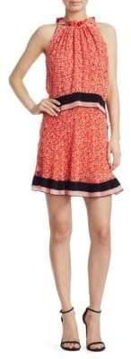 Derek Lam Silk Tiered Halter Dress