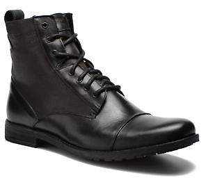 Levi's Men's Maine Lace Up Lace-Up Ankle Boots In Black - Size Uk 9.5 / Eu 44