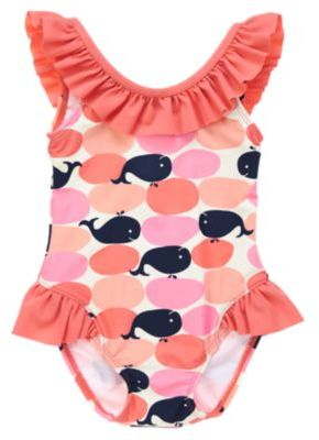 Crazy 8 Ruffle Whale Print Swimsuit