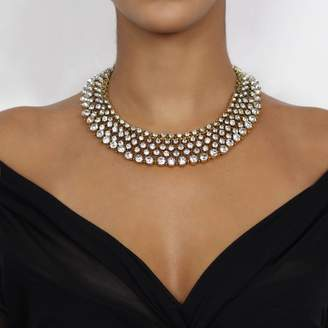Nikita By Niki ® Royal Gold Rhinestone Statement Necklace