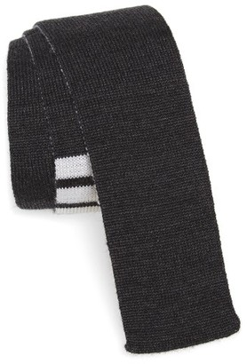 Men's Thom Browne 4-Bar Wool Knit Tie $235 thestylecure.com