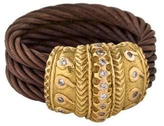 Charriol Diamond Three Row Cable Ring
