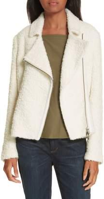 Eileen Fisher Alpaca Wool Blend Boucle Moto Jacket