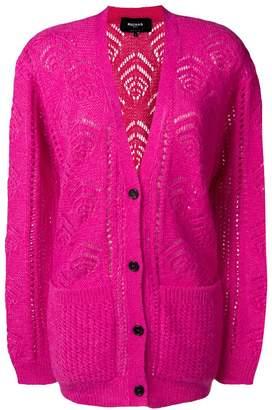 Rochas longline patterned cardigan