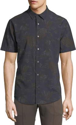 Vince Men's Pineapple Tropical-Print Short-Sleeve Sport Shirt