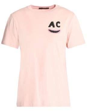Alexa Chung Woman Printed Cotton-jersey T-shirt White Size L AlexaChung Free Shipping Genuine 7rRu3fV