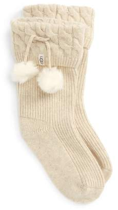 UGG UGGpure(TM) Pompom Short Rain Boot Sock