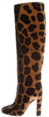 Dolce & Gabbana Velvet Knee-High Boots