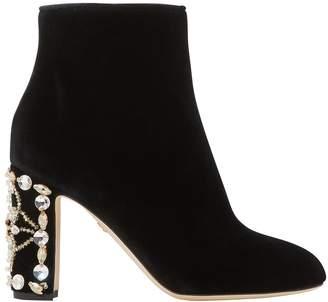 Dolce & Gabbana Velvet ankle boots