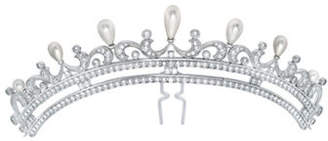 Crislu ANDREW PRINCE BY Drop Pearl-Embellished Bridal Hair Pin