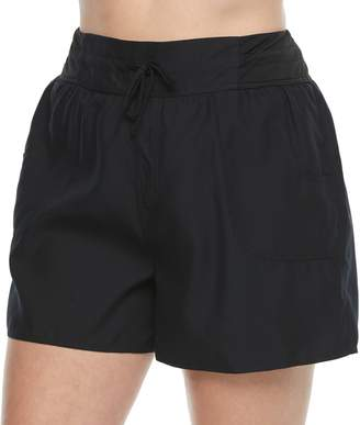 457e7e028a3 Croft   Barrow Plus Size Tactel Drawstring Swim Shorts