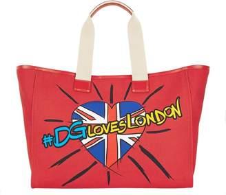 Dolce & Gabbana #DGLovesLondon Canvas Tote Bag