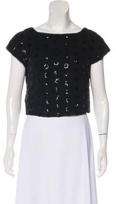 Milly Sequined Cap Sleeve Top
