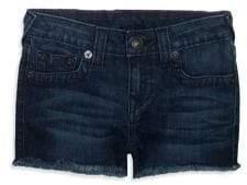 True Religion Little Girl's & Girl's Shibori Denim Shorts