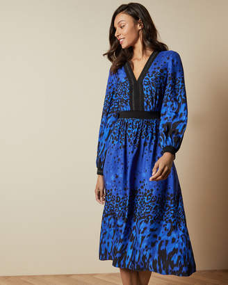 Ted Baker MARYEMA Topaz long sleeved midi dress