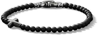 David Yurman Spiritual Beads onxy cross bracelet