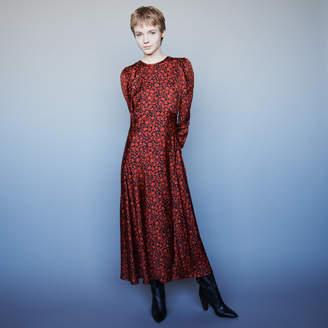Maje Printed-satin dress