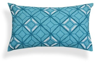 A1 Home Collections Bondi Blue Geometric Embroidered Throw Pillow