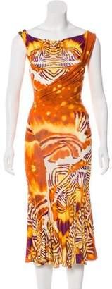 Just Cavalli Animal Print Midi Dress