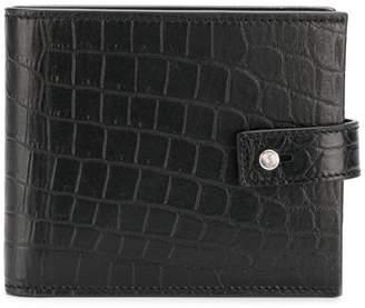 Saint Laurent mock croc wallet