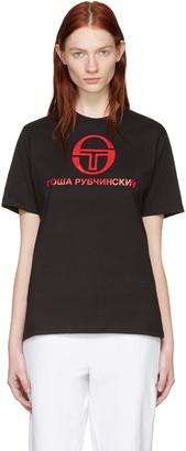 Gosha Rubchinskiy Black Sergio Tacchini Edition T-Shirt $55 thestylecure.com