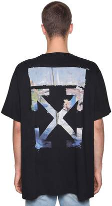 Off-White Off White Printed Arrow Cotton Jersey T-Shirt