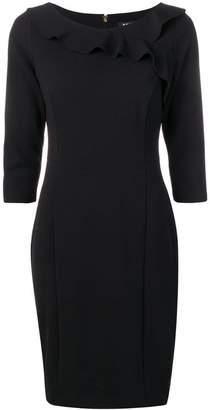 DKNY frill-trim fitted dress
